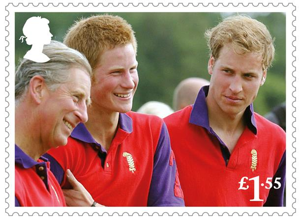 HRH The Prince of Wales and his sons at Cirencester Park Polo Club