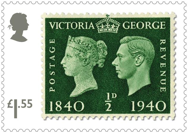 King George VI Penny Black Centenary - 1/2d of 1940